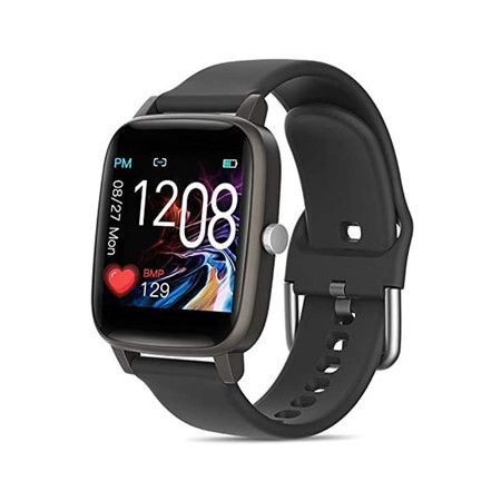 Smartwatch Fitness Tracker Fitness Watch Heart Rate Monitor Smart Watches for Men Women (Black)