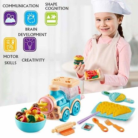 Noodle Maker Kitchen Toy Color Clay Dough