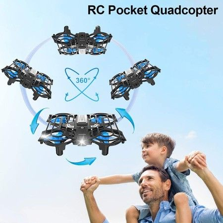 Mini Drone with WiFi Camera, HD 3D Flip and 3 Speed Adjustment Quadcopter Camera Remote Control Headless [Altitude Hold],with Altitude Hold and Headless Mode,Super Easy Fly for Training