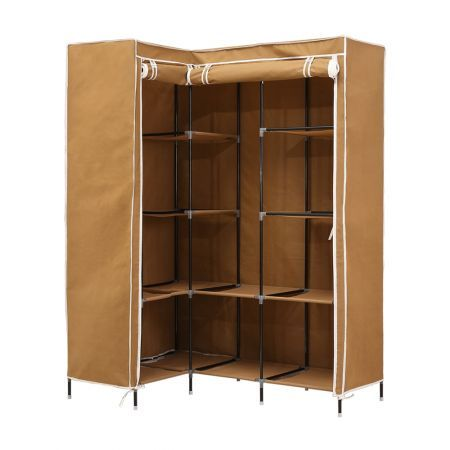 Levede Portable Wardrobe Clothes Closet Storage Cabinet Organizer With Shelves