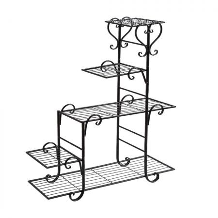 Levede Outdoor Indoor Plant Stand Metal Flower Pot Garden Corner Shelf Stands