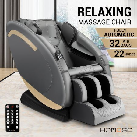 Homasa Zero Gravity Full Body Massage Chair with Heat and Remote Control
