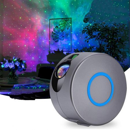 Star Light Projector, Galaxy Projector with LED Nebula Cloud -Silver Gray