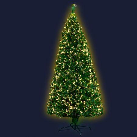 Jingle Jollys Christmas Tree 1.8M 6FT LED Xmas Fibre Optic Multi Warm White | Crazy Sales