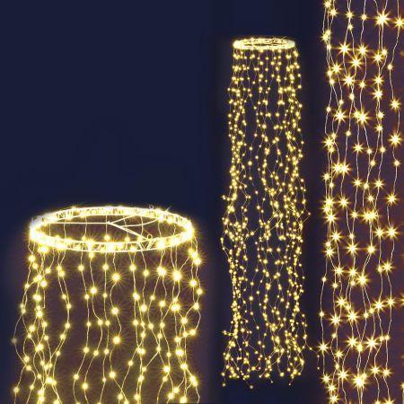 Jingle Jollys Christmas Motif Lights String Waterfall Fairy 720 LED Wedding 3M | Crazy Sales