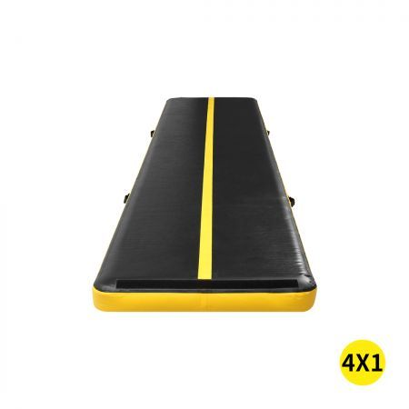 4x1M Air Track Inflatable Mat Airtrack Tumbling Electric Air Pump Gymnastics