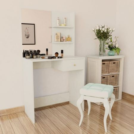 Dressing Table Chipboard 75x40x141 cm White