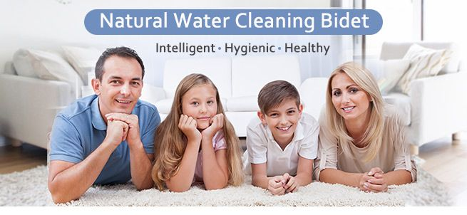 Hygeian Natural Water Clean Wash Unisex Toilet Bidet
