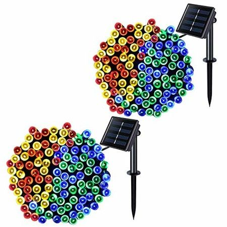 Solar String Lights 8 Patterns 22 Meters 200LED Holiday Outdoor Waterproof Christmas Lantern