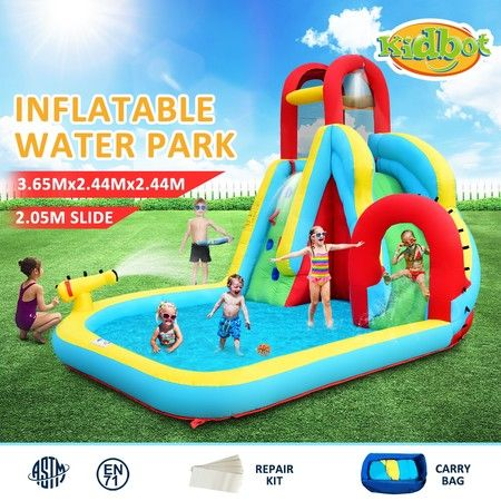 All in One Inflatable Water Park Water Slide Jump Castle Blow Up Pool Bouncer House For Kids