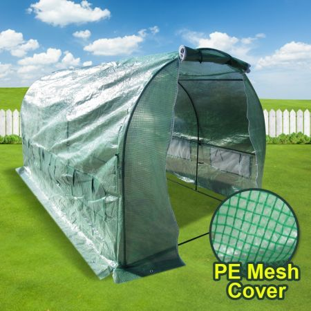Extra large arch roof 3 metre garden greenhouse shed with for Reparer fenetre