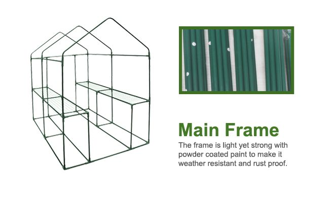 Extra Large Apex Roof Walk-In Garden Greenhouse Shed with Cover - Transparent