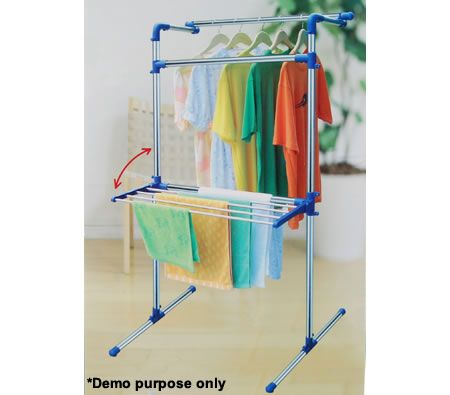 Foldable Stainless Steel Clothes Rack - Multipurpose Portable Clothes Hanger Dryer[YLT-0401E]