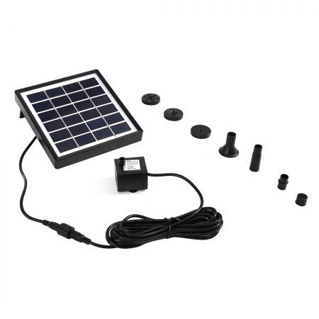 Solar Fountain Water Pump Kit Pond Pool Submersible Outdoor Garden 1.5W