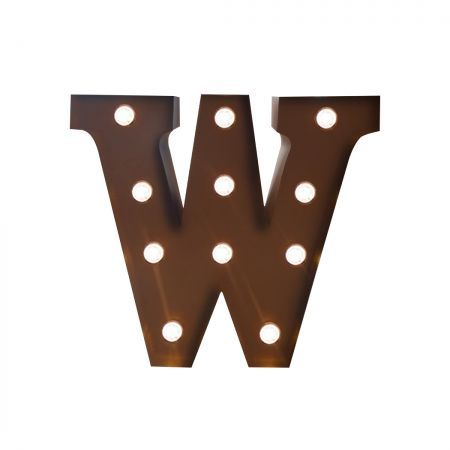 LED Metal Letter Lights Free Standing Hanging Marquee Event Party D?cor Letter W