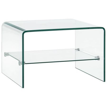 Coffee Table Clear 50x45x33 cm Tempered Glass