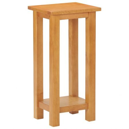 Side Table 27x24x55 cm Solid Oak Wood
