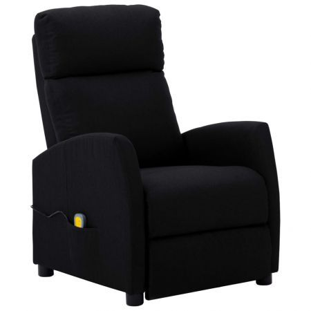 Massage Reclining Chair Black Fabric