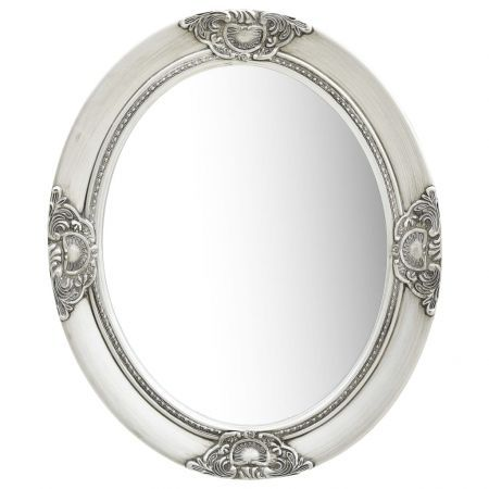 Wall Mirror Baroque Style 50x60 cm Silver
