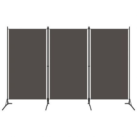 3-Panel Room Divider Anthracite 260x180 cm