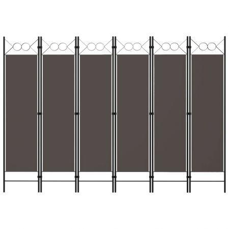 6-Panel Room Divider Anthracite 240x180 cm