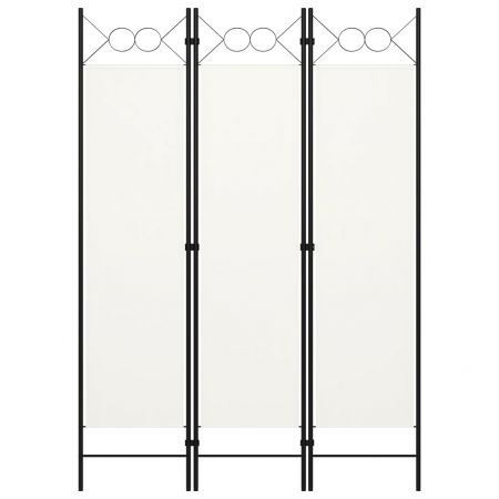 3-Panel Room Divider White 120x180 cm