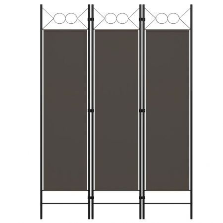 3-Panel Room Divider Anthracite 120x180 cm