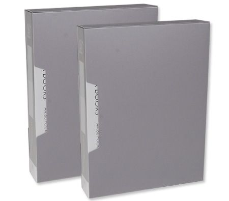 80 Page A4 Clear Pocket Display Book Plastic Thin File Folder with Storage Case x 2
