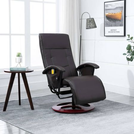 Massage Chair Brown Faux Leather