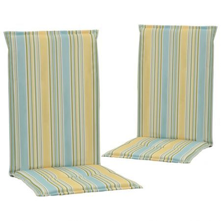 Printed Garden Chair Cushions 2 pcs Multicolour 120x50x3 cm