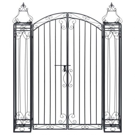 Ornamental Garden Gate Wrought Iron 122x20.5x160 cm