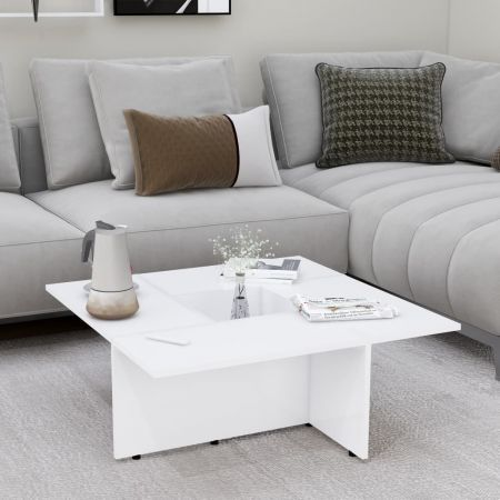 Coffee Table White 79.5x79.5x30 cm Chipboard