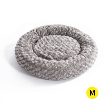 Pet Bed Dog Cat Nest Calming Donut Mat Soft Plush Kennel Cave Deep Sleeping M