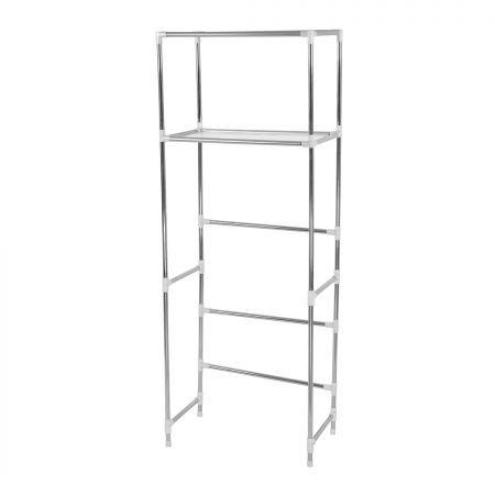 2 Tier Toilet Bathroom Laundry Washing Machine Storage Rack Shelf Unit Organizer