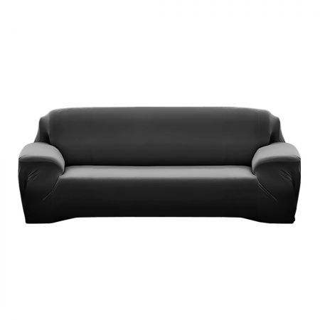 Easy Fit Stretch Couch Sofa Slipcovers Protectors Covers 3 Seater Black