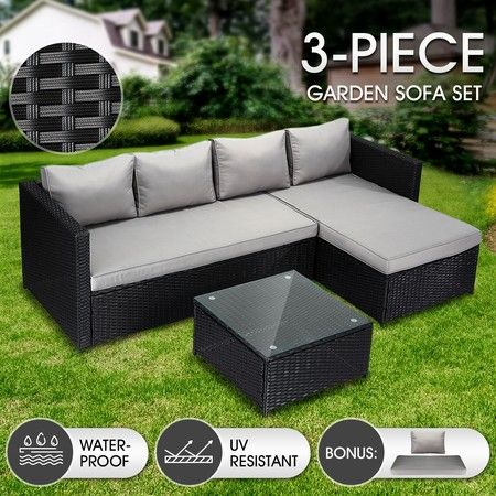 Outdoor Furniture Couch Lounge Sofa Table and Chairs Set for Garden Patio Balcony