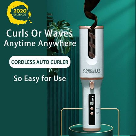 2020 Exclusive Cordless Automatic Hair Curlers Rollers Ceramic Barrel TYPE-C POWERED 5200mAh