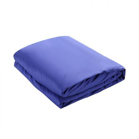 DreamZ 121x92cm Cotton Anti Anxiety Weighted Blanket Cover Protector Blue