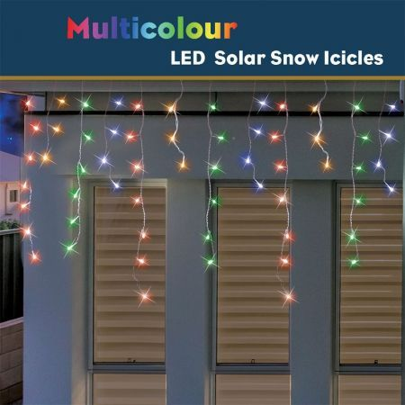 Stockholm Christmas Solar String Lights 720 LEDs Snowing Curtain Icicle Outdoor Xmas Decor