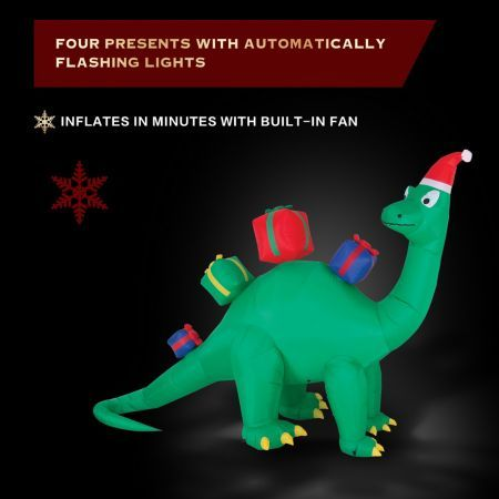 Stockholm Christmas Lights 3.4M LED Inflatable Cute Cool Dinosaur Outdoor Garden Xmas Motif