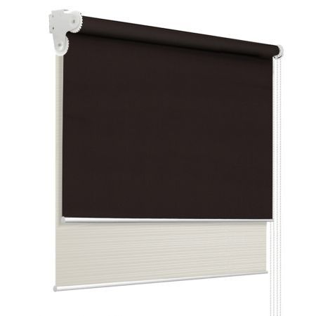 Roller Blinds Blockout Blackout Curtains Window Double Dual Shades 1.2X2.1M CRCO