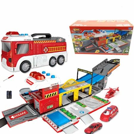 Deformation Fire storage Truck Model Track Scene Storage Kits Assembling Toy Gift Truck