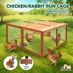 Petscene Foldable Wood Chicken Coop Rabbit Hutch Hen Poultry House Cage