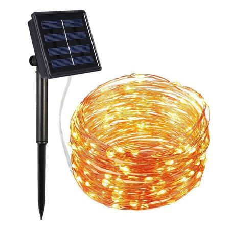 Outdoor Solar String Lights, 66FT 200 LED Solar Powered Fairy Lights (Warm White)