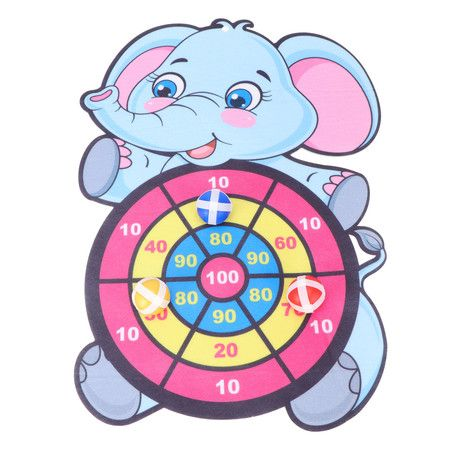 Children Cartoon Animal Dart Board Cute Elephant Target Dart Accuracy Precision Target