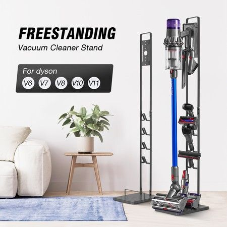 Freestanding Dyson Cordless Vacuum Cleaner Metal Stand Rack Hook V6 V7 V8 V10 V11 Grey