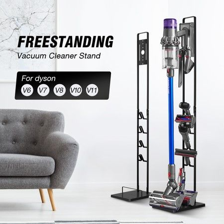 Freestanding Dyson Cordless Vacuum Cleaner Metal Stand Rack Hook V6 V7 V8 V10 V11 Black