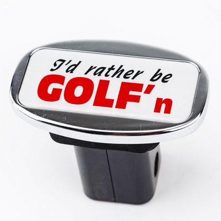Jaxsyn Novelty Towbar Trailer Hitch Cover Tow - I'd Rather be GOLF'n