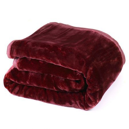 Laura Hill 800GSM Heavy Double-Sided Faux Mink Blanket - Red