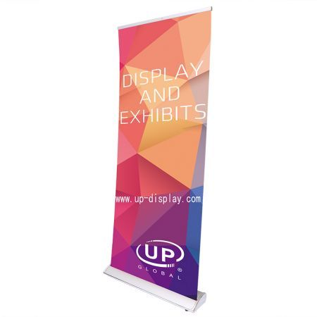 85x200cm Pull Up Banner Retractable Wide Base Roll Up Banner Stand Show Display